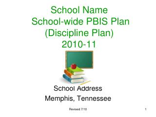 School  Name  School-wide  PBIS Plan (Discipline Plan)  2010-11