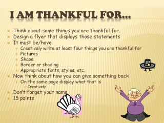 I am thankful for�