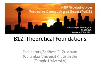 B12. Theoretical Foundations