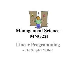 Management Science – MNG221