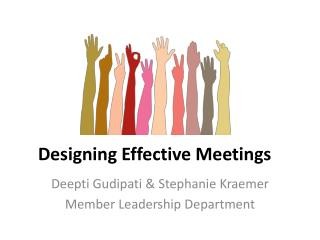 Designing Effective Meetings