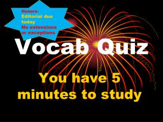 Vocab  Quiz