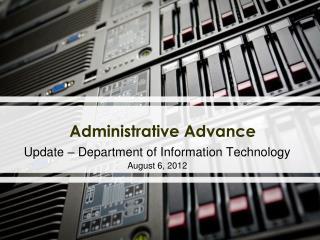 Administrative  Advance