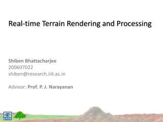 Why render terrains?
