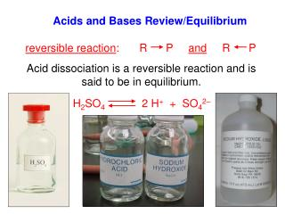 Acids and Bases Review/Equilibrium