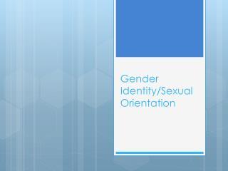 Gender Identity/Sexual Orientation
