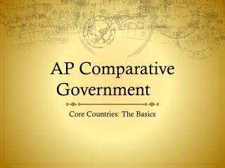 One Month AP Comparative Government Study Guide