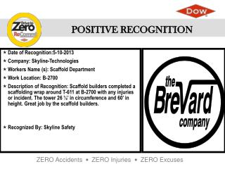 Date of  Recognition:5-10-2013 Company : Skyline-Technologies