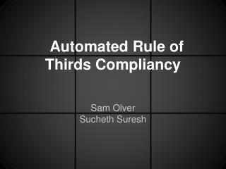 Automated Rule of Thirds Compliancy