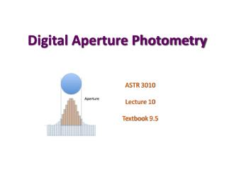 Digital Aperture Photometry