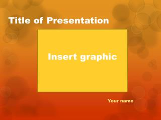 Title of Presentation