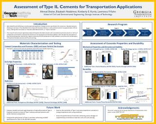 Assessment of Type IL Cements for Transportation Applications