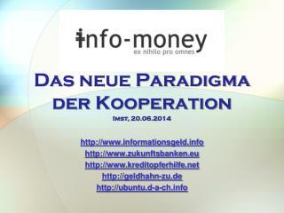 Das  neue Paradigma der  Kooperation