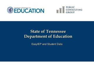 State of Tennessee Department of Education