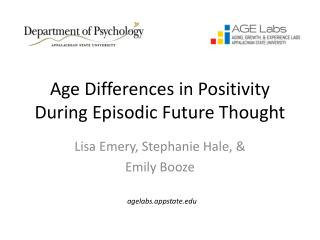 Age Differences in Positivity During Episodic Future Thought