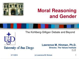 Moral Reasoning and Gender