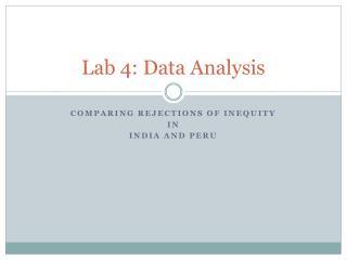 Lab 4: Data Analysis