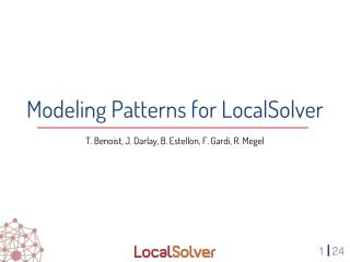 Modeling Patterns for LocalSolver