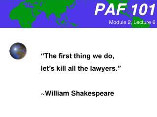 PAF 101