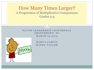 How Many Times Larger? A Progression of Multiplicative Comparisons Grades 3-5