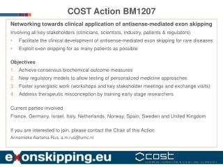COST Action BM1207