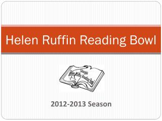 Helen Ruffin Reading Bowl