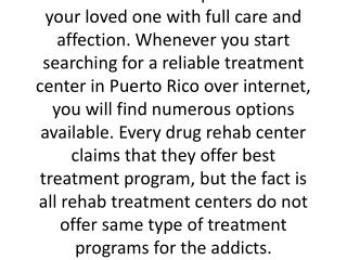Drug rehab centers in Puerto Rico
