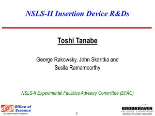 NSLS-II Insertion Device RDs