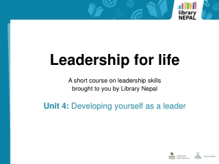 Developing Yourself as a Leader