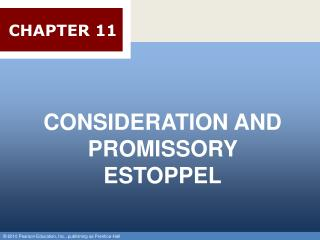 CONSIDERATION AND PROMISSORY ESTOPPEL
