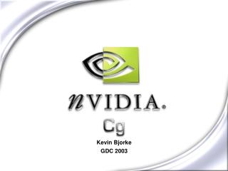 Kevin Bjorke GDC 2003