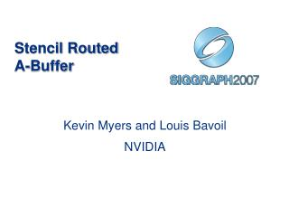 Stencil Routed A-Buffer