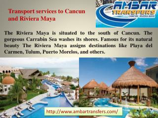 Transport services to Cancun and Riviera Maya