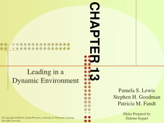 Leading in a       Dynamic Environment
