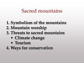 Sacred Mountains