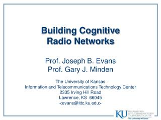Building Cognitive Radio Networks