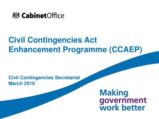 Civil Contingencies Act Enhancement Programme CCAEP