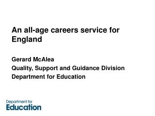 An all-age careers service for England