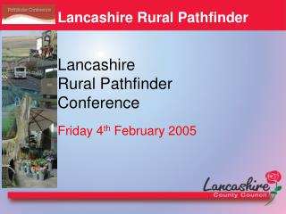 Lancashire Rural Pathfinder Conference