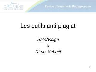Les outils anti-plagiat