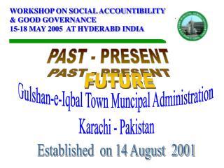 Gulshan-e-Iqbal Town Muncipal Administration  Karachi - Pakistan