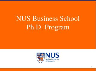 NUS Business School Ph.D. Program