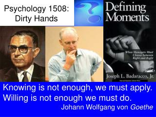 Psychology 1508: Dirty Hands