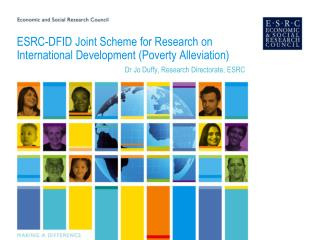 ESRC-DFID Joint Scheme for Research on International Development Poverty Alleviation
