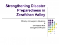 Strengthening Disaster Preparedness in Zerafshan Valley