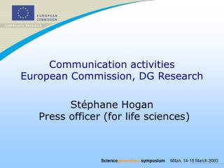 Communication activities European Commission, DG Research