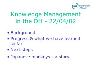 Knowledge Management in the DH - 22