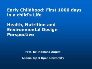 Developmental Outcomes of Preterm Infants: Emphasis on Nutrition
