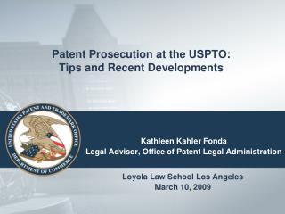 Patent Prosecution at the USPTO