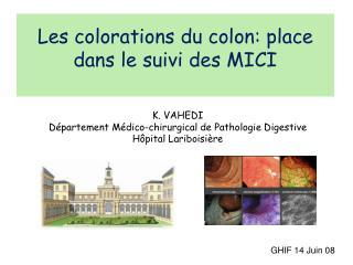 Les colorations du colon: place dans le suivi des MICI